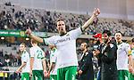 Stockholm 2014-09-21 Fotboll Superettan Hammarby IF - Syrianska FC :  <br /> Hammarbys Linus Hallenius jublar efter matchen och segern &ouml;ver Syrianska<br /> (Foto: Kenta J&ouml;nsson) Nyckelord:  Superettan Tele2 Arena Hammarby HIF Bajen Syrianska FC SFC jubel gl&auml;dje lycka glad happy