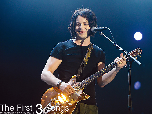 Jack White of The Raconteurs performs during Day 1 of the Orlando Calling music festival at Citrus Bowl Park in Orlando, Florida on November 12, 2011.
