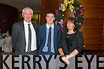 James Lyne, Shane Lyne, Geraldine Lyne enjoying the Kerry Hurling Social at Fels Point Hotel on Saturday