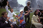 Royal Ascot, picnic in the rain.  The English Season published by Pavilon Books 1987