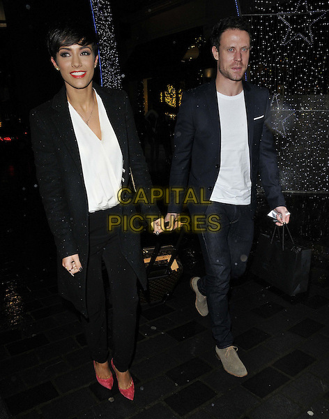 LONDON, ENGLAND - DECEMBER 04: Frankie Bridge ( nee Sandford ) &amp; Wayne Bridge attend the Thomas Sabo new flagship store launch party, Thomas Sabo, South Molton St., on Thursday December 04, 2014 in London, England, UK. <br /> CAP/CAN<br /> &copy;Can Nguyen/Capital Pictures