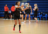 14.10.2016 Silver Ferns Maria Tutaia in action at the Silver Ferns training at the Auckland Netball Centre in Auckland. Mandatory Photo Credit ©Michael Bradley.