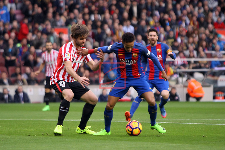 League Santander 2016/2017. Game: 21.<br /> FC Barcelona vs Athletic Club: 3-0.<br /> Yeray vs Neymar Jr.