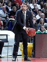 Zalgiris Kaunas' coach Joan Plaza during Euroleague 2012/2013 match.January 11,2013. (ALTERPHOTOS/Acero) /NortePhoto