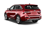 Car pictures of rear three quarter view of 2017 KIA Sorento SX V6 AT 4WD 5 Door SUV Angular Rear