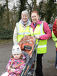 Breda, Claire and Ava Levins who took part in the 5k walk/run from An Grianan in aid of St Mary's special school Drumcar. Photo:Colin Bell/pressphotos.ie