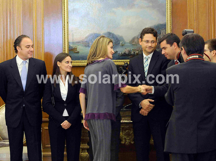 "**ALL ROUND PICTURES FROM SOLARPIX.COM**.**WORDLWIDE SYNDICATION RIGHTS EXCEPT FOR SPAIN**NO PUBLICATION IN SPAIN**.Princess Letizia of Spain at a photocall to launch the project ""Dialoguesa"", which is a learning radio project starting in Extramadura province. 16th October 2008..JOB REF: 7621 PTG        DATE: 16_10_2008.**MUST CREDIT SOLARPIX.COM OR DOUBLE FEE WILL BE CHARGED* *UNDER NO CIRCUMSTANCES IS THIS IMAGE TO BE REPRODUCED FOR ANY ONLINE EDITION WITHOUT PRIOR PERMISSION*"