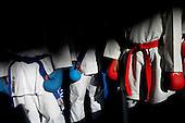Karatecas esperan su turno para participar  en las finales nacionales de Sup&raquo;rate Intercolegiados en el Centro de Alto Rendimiento en Bogot&sum; el 21 de octubre de 2014.<br /> Foto: Joaquin Sarmiento/Archivolatino para Sup&raquo;rate Intercolegiados, Coldeportes<br /> <br /> COPYRIGHT: Sup&raquo;rate, Coldeportes. <br /> Prohibida su venta y su uso comercial sin autorizaci&euro;n