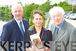 Arthor Anne Enright who has won the Writer's Week 2008 Kerry Group Irish Fiction Award on Wednesday with Noble Prize in Literature Seamus Heaney right and Writers week chairman Michael Lynch in the Listowel Arms Hotel on Wednesday   Copyright Kerry's Eye 2008