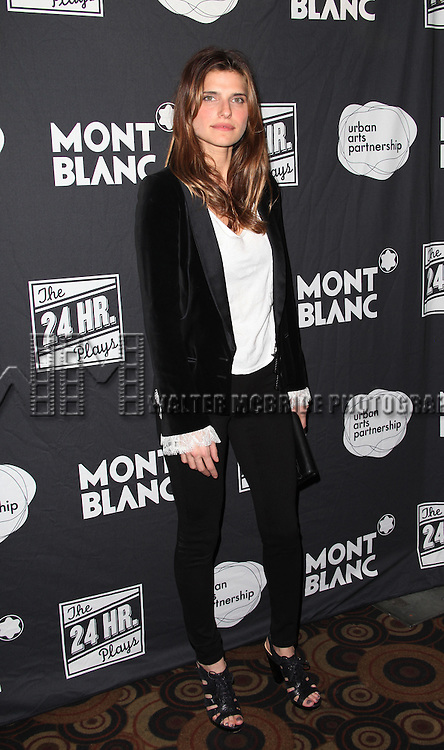Lake Bell<br /> attending the MONTBLANC Presents The 10th Annual Production Of The 24 Hour Plays On Broadway After Party at B.B. King in New York City