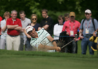 Padraig Harrington takes his 3rd shot out of the bunker at the 17th green during the third round of the 2008 Irish Open at Adare Manor Golf Resort, Adare,Co.Limerick, Ireland 17th May 2008 (Photo by Eoin Clarke/GOLFFILE)