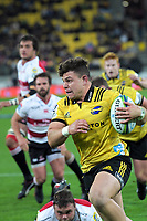 Ricky Riccitelli in action during the Super Rugby match between the Hurricanes and Lions at Westpac Stadium in Wellington, New Zealand on Saturday, 5 May 2018. Photo: Dave Lintott / lintottphoto.co.nz