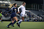 DURHAM, NC - NOVEMBER 11: Duke's Ashton Miller (4) and UNCG's Grace Kennedy (30). The Duke University Blue Devils hosted the UNCG Spartans on November 11, 2017 at Koskinen Stadium in Durham, NC in an NCAA Division I Women's Soccer Tournament First Round game. Duke won the game 1-0.