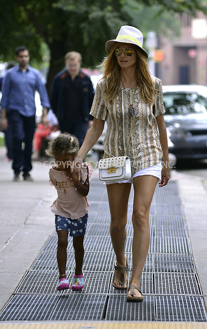 WWW.ACEPIXS.COM<br /> <br /> <br /> June 24 2103, New York City<br /> <br /> Heidi Klum and her daughter Lou walked in Tribeca on June 24 2013 in New York City<br /> <br /> By Line: Curtis Means/ACE Pictures<br /> <br /> <br /> ACE Pictures, Inc.<br /> tel: 646 769 0430<br /> Email: info@acepixs.com<br /> www.acepixs.com