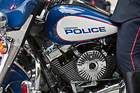 London Police motorcycle is seen during a police memorial parade in Ottawa Sunday September 26, 2010.