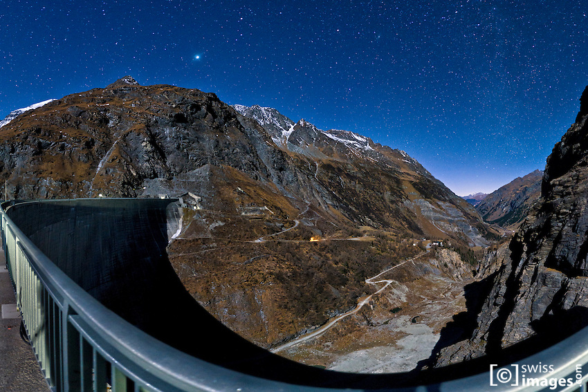 View of Mauvoisin Dam with Jupiter