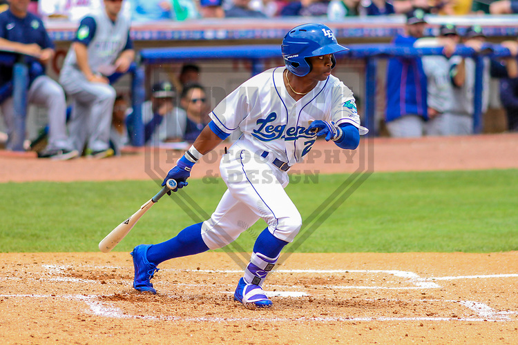 Lexington Legends outfielder Rudy Martin (2) during a South Atlantic League game against the Columbia Fireflies on May 28, 2017 at Whitaker Bank Ballpark in Lexington, Kentucky.  Columbia defeated Lexington 3-0. (Brad Krause/Krause Sports Photography)