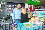 Collin's New Gala Store : Proprietors  John Paul & Francine Collins  in their new store in Tarbert