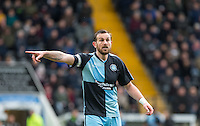 Paul Hayes of Wycombe Wanderers gives instructions during the Sky Bet League 2 match between Notts County and Wycombe Wanderers at Meadow Lane, Nottingham, England on 28 March 2016. Photo by Andy Rowland.