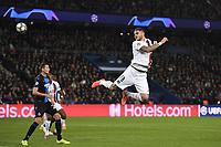 6th November 2019, Paris France; UEFA Champions league football, Paris St German versus Brugges;   MAURO ICARDI PSG leaps high to get his header on goal