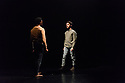 "James Cousins Company presents a triple bill of duets, under the title ""Epilogues"", at The Place. The piece shown is: ""In Between Us is Me"". The dancers are: Rhys Dennis and Georges Hann."