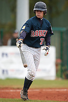17 October 2010: Oscar Combes of Rouen is seen at bat during Rouen 10-5 win over Savigny, during game 2 of the French championship finals, in Savigny sur Orge, France.