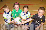SKILLS: Enjoying the skills drills at the VHI GAA Cu?l Camp at Listowel Emmets Club last Friday were l-r: Darragh Nolan, Louise Horgan, Abbey McMahon, Adam Mulvihill.
