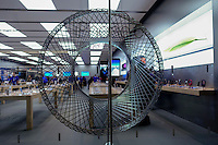 Paramus, NJ. 20 October 2014. The new iPhone 6 is announced on a Apple store in New Jersey. Apple reported fourth-quarter revenues of $42.1 billion in the quarter . Photo by Kena Betancur/VIEWpress