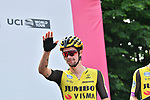 Primoz Roglic (SLO) Team Jumbo-Visma at sign on before the start of Stage 13 of the 2019 Giro d'Italia, running 196km from Pinerolo to Ceresole Reale (Lago Serrù), Italy. 24th May 2019<br /> Picture: Massimo Paolone/LaPresse | Cyclefile<br /> <br /> All photos usage must carry mandatory copyright credit (© Cyclefile | Massimo Paolone/LaPresse)