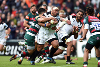 John Afoa of Bristol Bears takes on the Leinster defence. Gallagher Premiership match, between Leicester Tigers and Bristol Bears on April 27, 2019 at Welford Road in Leicester, England. Photo by: Patrick Khachfe / JMP