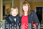 Marian Shanahan and Birdie O'Connor enjoying the Lee Strand annual social at the Ballygarry House hotel and Spa on Saturday.