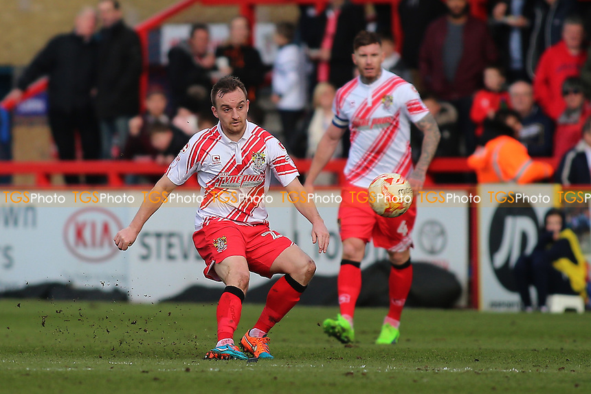 Charlie Lee of Stevenage during Stevenage vs Notts County, Sky Bet EFL League 2 Football at the Lamex Stadium on 4th March 2017