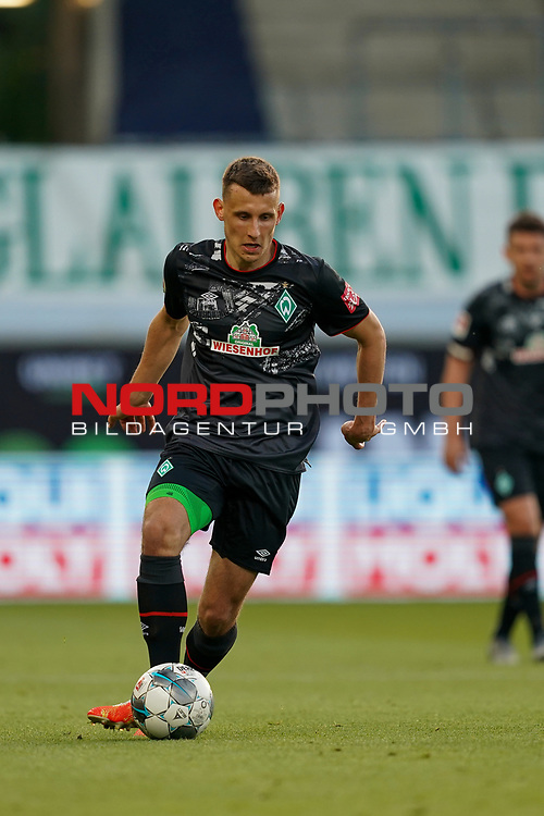 Maximilian Eggestein (Werder Bremen #35)<br /> <br /> <br /> Sport: nphgm001: Fussball: 1. Bundesliga: Saison 19/20: Relegation 02; 1.FC Heidenheim vs SV Werder Bremen - 06.07.2020<br /> <br /> Foto: gumzmedia/nordphoto/POOL <br /> <br /> DFL regulations prohibit any use of photographs as image sequences and/or quasi-video.<br /> EDITORIAL USE ONLY<br /> National and international News-Agencies OUT.