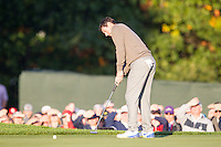 Rory McIlroy (Team Europe) on the 2nd green during the Saturday morning Foursomes at the Ryder Cup, Hazeltine national Golf Club, Chaska, Minnesota, USA.  01/10/2016<br /> Picture: Golffile | Fran Caffrey<br /> <br /> <br /> All photo usage must carry mandatory copyright credit (&copy; Golffile | Fran Caffrey)