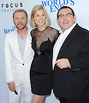 Simon Pegg ,Rosamund Pike and Nick Frost<br />  at The Focus Features L.A. Premiere of The World's End held at The Cinerama Dome in Hollywood, California on August 21,2013                                                                   Copyright 2013 Hollywood Press Agency