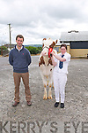 Padraig Murphy, Kilkenny, Judge, Katie Kennelly, Ardfert.  Class January Yearling Calfat the Castleisland Mart Calf Show on Saturday