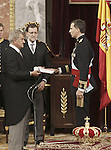 Coronation ceremony in Madrid. King Felipe VI of Spain, Mariano Rajoy Spanish President at Congreso de los Diputados. Madrid, June 19 ,2014. (ALTERPHOTOS/EFE/Pool)