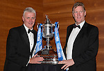 St Johnstone FC Scottish Cup Celebration Dinner at Perth Concert Hall...01.02.15<br /> John Cowmeadow and Ian MacDonald<br /> Picture by Graeme Hart.<br /> Copyright Perthshire Picture Agency<br /> Tel: 01738 623350  Mobile: 07990 594431