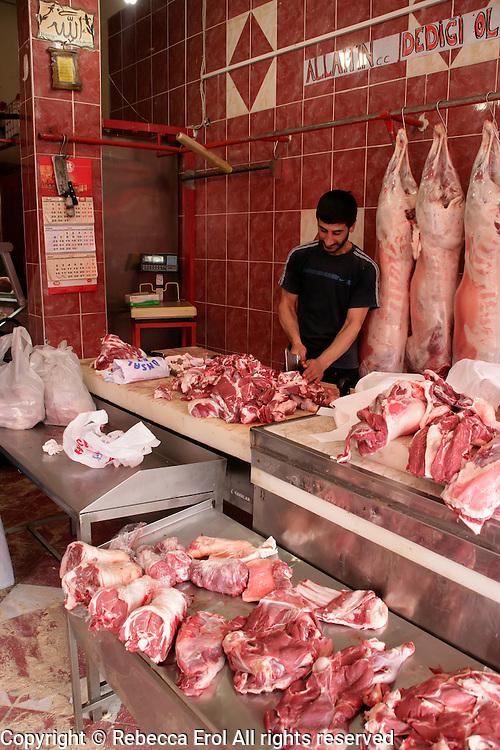 Butchers in the Zeyrek area of Istanbul, Turkey