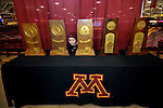 skate with Gophers, NCAA trophies