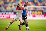 nph00351: Fussball, 1. Bundesliga, Saison 19/20, 26. Spieltag, Fortuna Düsseldorf - FC Paderborn 07, 16.05.2020:<br /> Marcel Sobottka (F95), Sebastian Vasiliadis (SCP)<br />  <br /> <br /> Nur für journalistische Zwecke! Only for editorial use!<br /> <br /> Gemäß den Vorgaben der DFL Deutsche Fußball Liga ist es untersagt, in dem Stadion und/oder vom Spiel angefertigte Fotoaufnahmen in Form von Sequenzbildern und/oder videoähnlichen Fotostrecken zu verwerten bzw. verwerten zu lassen. DFL regulations prohibit any use of photographs as image sequences and/or quasi-video. <br /> <br /> Foto: Moritz Müller/Pool / via Meuter/nordphoto