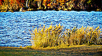 An interpretive treatment in panoramic format summons up river recollections warmly banked away for restful recall.<br /> <br /> Image DETAIL: http://www.petersongallery.com/image/I0000zrxxCkZnE3w