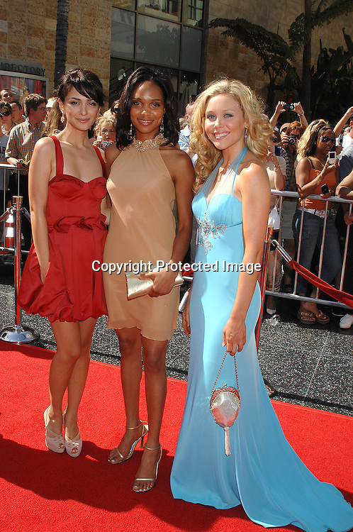 Nazanin Boniadi,Angel Wainwright,  and Amanda Baker..of General Hospital Night Shift..arriving at The 34th Annual Daytime Emmy Awards on ..June 15, 2007 at The Kodak Theatre in Hollywood, California. ..Robin Platzer, Twin Images......212-935-0770