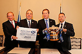 Aberdeen Asset Management Scottish Open sponsorship extended to 2020. Images during a press conference regarding the Aberdeen Asset Management Scottish Open. The press conference was hosted by Scotland's First Minster, The Rt Hon Alex Salmond, MSP at his Official Residence in  Bute House, Charlotte Square, Edinburgh where he was joined by George O'Grady, Chief Executive, The European Tour, Stephen Docherty, Head of Global Equities, Aberdeen Asset Management and Mike Cantlay, Chairman VisitScotland.: Picture Stuart Adams, www.golftourimages.com: \07-Nov-14\