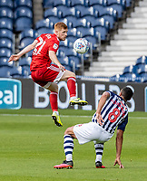 Fulham's Harrison Reed competing with West Bromwich Albion's Jake Livermore (right) <br /> <br /> Photographer Andrew Kearns/CameraSport<br /> <br /> The EFL Sky Bet Championship - West Bromwich Albion v Fulham - Tuesday July 14th 2020 - The Hawthorns - West Bromwich <br /> <br /> World Copyright © 2020 CameraSport. All rights reserved. 43 Linden Ave. Countesthorpe. Leicester. England. LE8 5PG - Tel: +44 (0) 116 277 4147 - admin@camerasport.com - www.camerasport.com