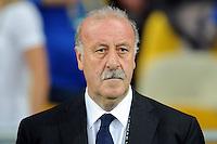 KIEV, UCRANIA, 01 JULHO 2012 - EURO2012 FINAL - ESPANHA X ITALIA - O treinador da Espanha Vicente Del Bosue durante partida contra a Italia na decisao da Euro 2012 em Kiev, Ucrânia, neste domingo (01).  (FOTO: PIXATHLON / BRAZIL PHOTO PRESS).