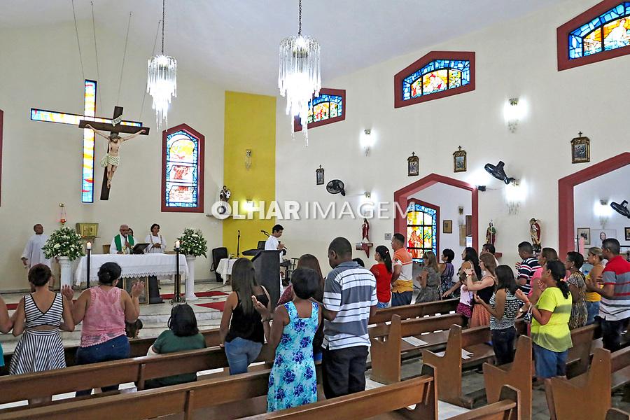 Missa na capela do Centro de Tradições Nordestinas. Sao Paulo. 2017. Foto de Marcia Minillo.
