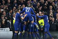 Andreas Christensen leaps onto the back of goalscorer, Ross Barkley, to celebrate Chelsea's second goal during Chelsea vs Malmo FF, UEFA Europa League Football at Stamford Bridge on 21st February 2019