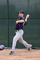 Aaron Cook of the Colorado Rockies works out at the Rockies minor league complex on April 23, 2011  in Scottsdale, Arizona. .Photo by:  Bill Mitchell/Four Seam Images.