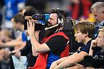 24.02.2019, SAP Arena, Mannheim<br /> Volleyball, DVV-Pokal Finale, VfB Friedrichshafen vs. SVG LŸneburg / Lueneburg<br /> <br /> Feature TV / Fernsehen / Kamera<br /> <br />   Foto © nordphoto / Kurth